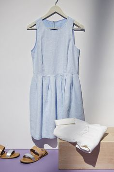 Soft shades and chambray dresses. #summerloves