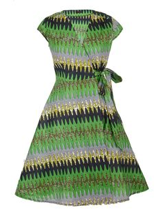 Wrap-Over Dress Multi-Colour