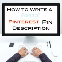 A good description is SO important for getting pins pinned, its not entirely the picture.