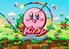 Kirby and the Rainbow Paintbrush Poster