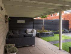Luxe tuin met veranda