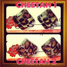 Handmade animal print resin stud earrings. #cheetah #handmade #earrings #studearrings www.mylovebugboutique.com