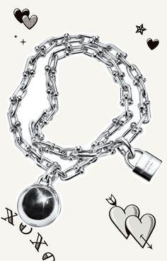 Tiffany HardWear wrap bracelet in sterling silver.