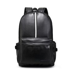 Casual Travel Backpack Leather Backpack Student School Bags for Teenagers Famous Brands Laptop Backpack White/Black Mochila Y73
