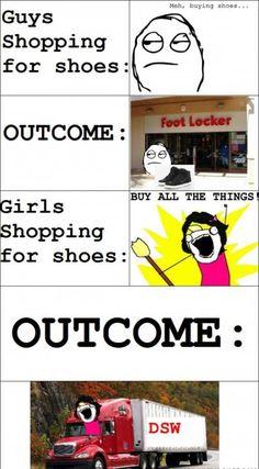 Shopping on Guys Vs Girls!