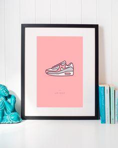 Nike Air Max 90 Sneaker Illustration • Classic Urban Streetwear Airmax Shoes Wall Art Home Decor • #nike #airmax #nikeairmax #nikesneakers # nikeart #nikeposter #airmaxsneakers