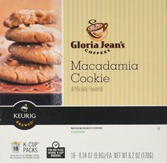 Gloria Jean's Macadamia Cookie Flavored Coffee - 18 K-cups for Keurig Brewer * Visit the image link more details.