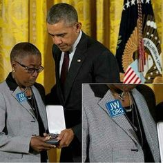 """Shared by @ruby.sandkorn2000 """"Constance Wilson, accepted the medal of Valor at a solemn ceremony in the East Room of the White House. Her grandson is the first Philadelphia police officer to receive this prestigious award. Obama, visibly moved as he..."""