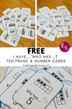 'I Have, Who Has' Game Cards – Number Recognition & Subitizing Printable Math Games! – Are you looking for a fun and engaging game [. Preschool Math, Math Classroom, Kindergarten Activities, Fun Math, Teaching Math, Primary Maths Games, Subitizing Activities, Kids Math, Math Math