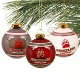 Decorate your Christmas tree with these awesome Montana Grizzly ornaments! Go Griz! Merry Grizmas!