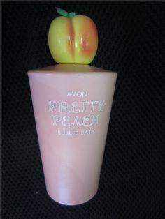 Avon Pretty Peach bubble bath.  www.kookykitsch.com