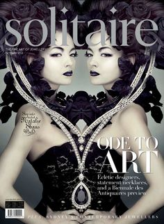 Solitaire magazine illustrations by Natalie Shau, via Behance