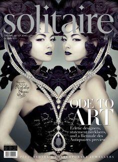 Solitaire magazine illustrations by Natalie Shau, via Behance