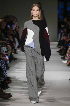 Round Neck Patchwork Top | Wide Trouser