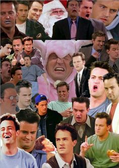 the many faces of Chandler Bing (aka faces girls make when snapchatting )