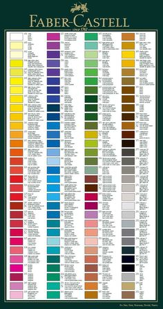 Faber Castell Colour Chart Information Hints and Tips Page from Studio Arts