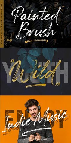 Painted Brush Fonts is a strong handwritten brush script with bold and casual style. This handmade fonts comes with great legibility and readability. Brush Script Font, Typography Logo, Lettering, Handwritten Fonts, Free Graphics, Creative Sketches, Ads Creative, Watercolor And Ink, Watercolor Branding