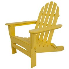Classic Lemon Folding Adirondack Patio Chair