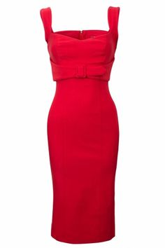 The Jessica Wiggle Dress In Vintage Red 44