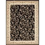 Manor House Black/Floral 7 ft. 10 in. x 10 ft. 2 in. Area Rug