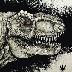 """Jurassicparkfanart on Instagram: """"Diegore 🔥🙌🏾"""" Dinosaur Art, Halloween Face Makeup, Instagram"""