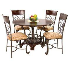 """Alyssa 5-Piece Casual Dining Set, el dorado, $499, 48"""" & Ashley furniture"""
