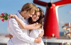 Shipboard Wedding Pkgs begin at $1195 on Carnival Cruise Lines.