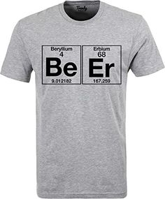 Amazon.com  Trendy Teez The Element of Beer College Science Periodic Table  Funny Drinking T-Shirt charcoal-3XL  Clothing 4aeeb156d