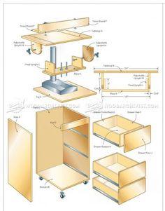 #1355 Drill Press Center Plans - Drill Press