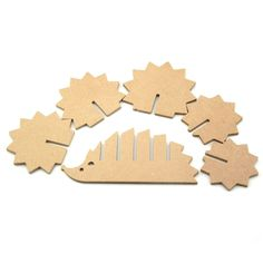 Dekoration Basteln 27 Insanely Clever Products That Basically Organize Themselves Cardboard Animals, Cardboard Crafts, Wooden Crafts, Paper Crafts, Wooden Art, Diy For Kids, Crafts For Kids, Arts And Crafts, Wooden Coasters