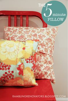 Easy sew pillow tutorial