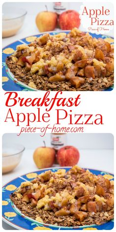 Nothing like pizza for breakfast! A fun way to get your morning started with Apple Pizza topped with warm, soft, cinnamon apples!