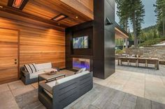 Sold Home 581 - Martis Camp: Lake Tahoe Luxury Community & Properties Mountain Home Exterior, Modern Mountain Home, Dream House Exterior, Mountain Homes, Tiny House Design, Modern House Design, Interior Exterior, Interior Design, Terrace Design