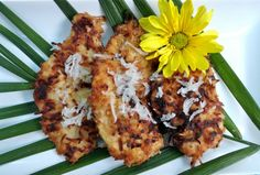 Gluten Free Coconut Crusted Chicken with Plum Dipping Sauce inspired by my travels to South East Asia.