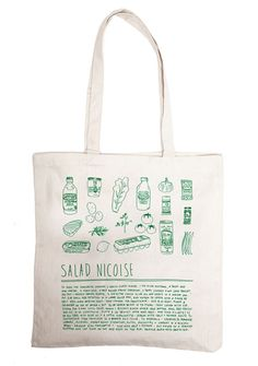 You'll never forget the recipe for Pasta Bolognese again with this charming canvas bag, which features a written recipe and drawings of the ingredients. Other varieties include Irish Soda Bread and Salad Nicoise — equally as delicious options.