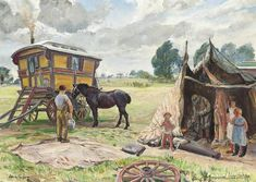 View Gypsy wagon and tent by Dame Laura Knight on artnet. Browse upcoming and past auction lots by Dame Laura Knight. Gottfried Helnwein, Gypsy Trailer, English Artists, British Artists, Knight Art, Gypsy Wagon, Roman Art, Edouard Manet, Gypsy Life