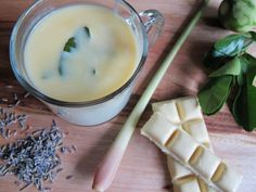 Lemongrass-Lavender White Hot Chocolate - Vosges Haut Chocolat's bianca white hot chocolate inspired this ridiculously addictive concoction scented with kaffir lime leaf, lemongrass, and lavender.