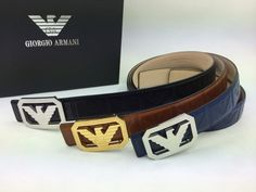 Armani 1 : 1 quality Belts Double-sided original leather, Steel buckle or Copper buckle, 1 to 1 quality fashion belts for men [ARMBEL-333] | Replica Shop | www.hrywell.com