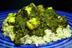 Curried Spinach with Tofu Paneer | VegWeb.com, The World's Largest Collection of Vegetarian Recipes