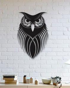 Night Owl Metal Wall Art, Animals Wall Art, Wall Decor, Metallic Paint, Living R. Room Wall Decor, Metal Wall Decor, Metal Wall Art, Bedroom Wall, Bedroom Decor, Metal Artwork, Metal Tree, 3d Prints, Kirigami