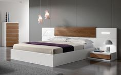 Double bed / contemporary / wood / lacquered wood ARIS PLUS : 11D A. Brito