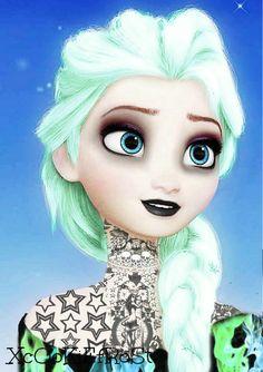 Elsa Frozen Punk/Emo by XcOoKiEfRoSt on DeviantArt