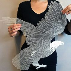 Beautiful papercut eagle.