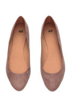 mole suede ballet pumps from H&M