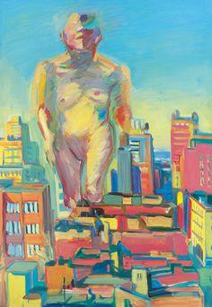 Maria Lassnig, Woman Power, 1979, Öl auf Leinwand