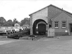 Abingdon Station Loading MG cars