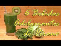 6 Bebidas Adelgazantes para el Verano - Ideal Dietas Social, Videos, Health, Youtube, Milkshakes, Juices, Dukan Diet, Fat, Get Skinny