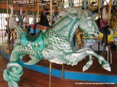 AstroWorld- Houston Texas- Hippocampus Seahorse on Dentzel Carousel- The one I always rode :)