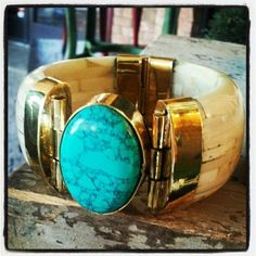 My favorite Color item of the day! Buffalo bone and semi precious stone cuff. One of Oprah's favorite list items!! $56 at Color in Green Hills, TN