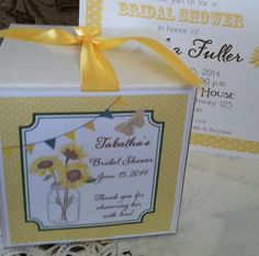 Printed Sunflower and Mason Jar Design for Weddings by ourdesigner, $15.00